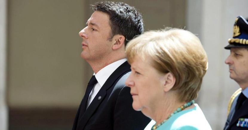 Il premier Renzi e la cancelliera Merkel